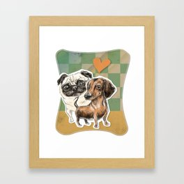A Tail of Two Dogs Framed Art Print