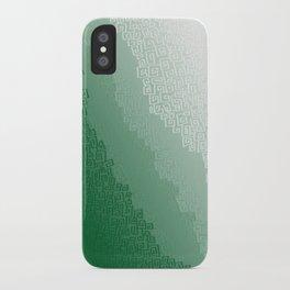Green Cloudburst iPhone Case