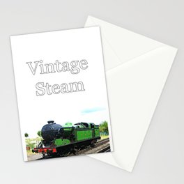 Vintage Steam railway engine Stationery Cards