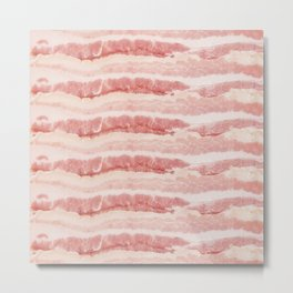 Bacon Strips Print Design Metal Print