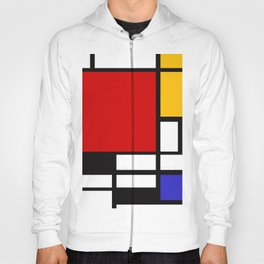 Piet Mondrian - Composition with Red, Yellow, and Blue 1942 Artwork Hoody