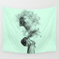 smoke Wall Tapestries featuring Smoke  by Renatta Maniski-Luke