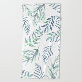 Floating Leaves Blue #society6 #buyart Beach Towel