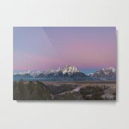 Pink Sunrise in Grand Teton Metal Print