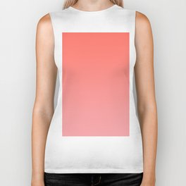 Color Gradient Living Coral Ombre- Mix & Match with Simplicity of Life Biker Tank