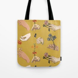 Hands in Art History Tote Bag