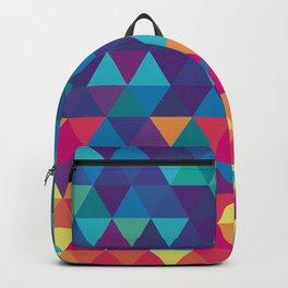 Colorful Geometric Triangles Backpack