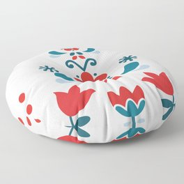 Retro Nordic Folk Floor Pillow