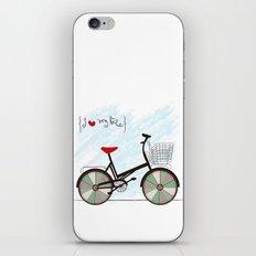 I {❤} My Bike iPhone & iPod Skin
