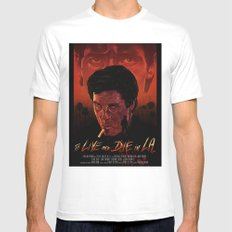 To Live And Die in L.A. MEDIUM White Mens Fitted Tee