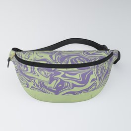 Liquid Swirl - Lettuce Green and Ultra Violet Fanny Pack