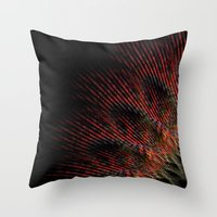 terry fan Throw Pillows featuring Fan by LoRo  Art & Pictures