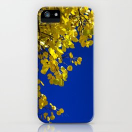 Blue and Gold iPhone Case