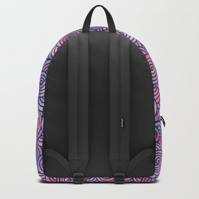 Purple swirls doodles Backpack