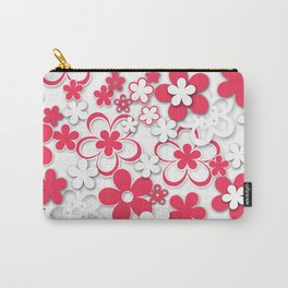 Red and white paper flowers 2 Carry-All Pouch