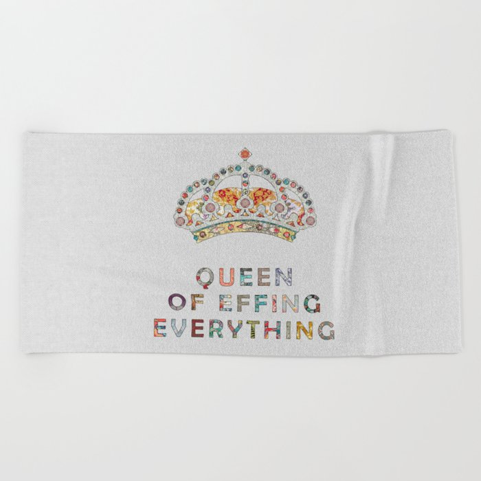her daily motivation Beach Towel