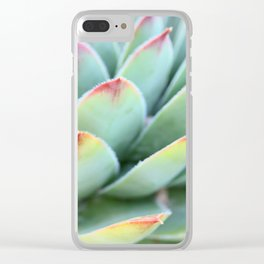 Succulent Zoom Clear iPhone Case
