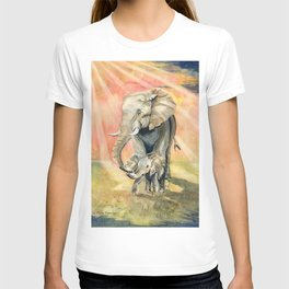 Mom and Baby Elephant T-shirt