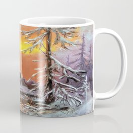 Winter house in the forest Coffee Mug