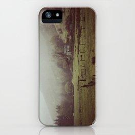Grasmere in heavy rain. iPhone Case
