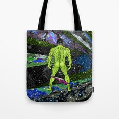 Incredible Butt in Mermaid Peacock Space Tote Bag