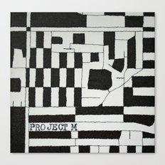 Black & White Map Canvas Print