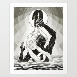 CREATION - MONOCHROME Art Print