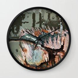 Corrosion Colors I Wall Clock