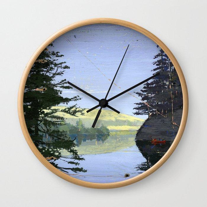 canoe Wall Clock
