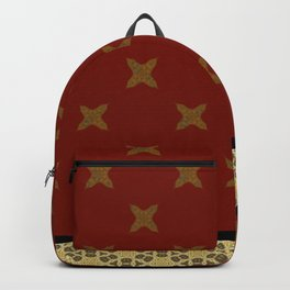 Gold Red X ribbon Pattern Design Backpack
