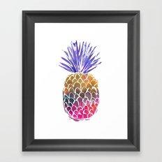 GoodVibes Pineapple Framed Art Print