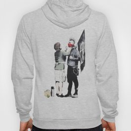 Banksy, Punk with mother Hoody