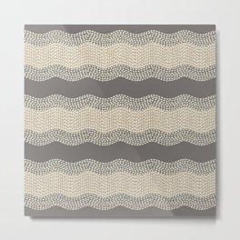 Wavy River III in brown, tan and cream Metal Print