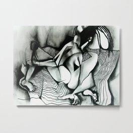 Striped Blanket Metal Print