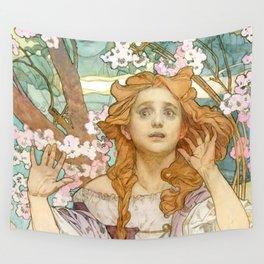 "Alphonse Mucha ""Maude Adams (1872–1953) as Joan of Arc"" Wall Tapestry"