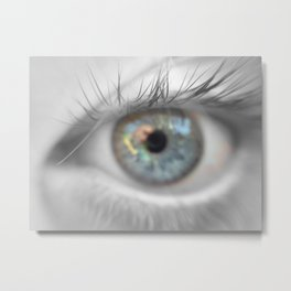 To See His Father in His Eyes Metal Print