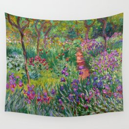 """Claude Monet """"The iris garden at Giverny"""", 1900 Wall Tapestry"""