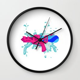 Sexual Act Adult Humor Censored Intercourse Design I Get Bitches Wet Colorful Dirty Naughty Water Wall Clock