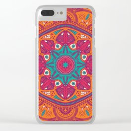 Colorful Mandala Pattern 017 Clear iPhone Case
