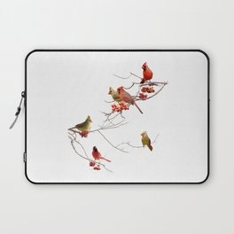 Perching Cardinals Laptop Sleeve