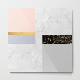 Gold Modern Art XIX Metal Print