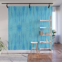 Turquoise Cotton Candy Lights Wall Mural