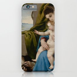 Lorenzo Lotto - Madonna and Child with Two Donors iPhone Case