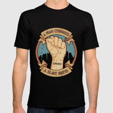 Bioshock a man, a slave Mens Fitted Tee LARGE Black