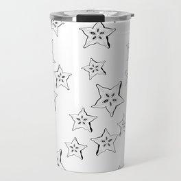 what's inside the Star fruit pattern Travel Mug