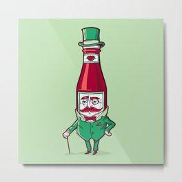 Sir Fancy Ketchup Metal Print