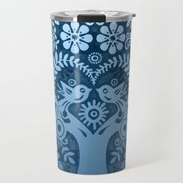 love birds in blue Travel Mug