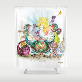 Pop Rooster Shower Curtain