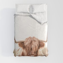 Highland Cow in a Field Southern Comforters