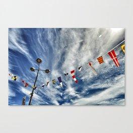 summer flags Canvas Print